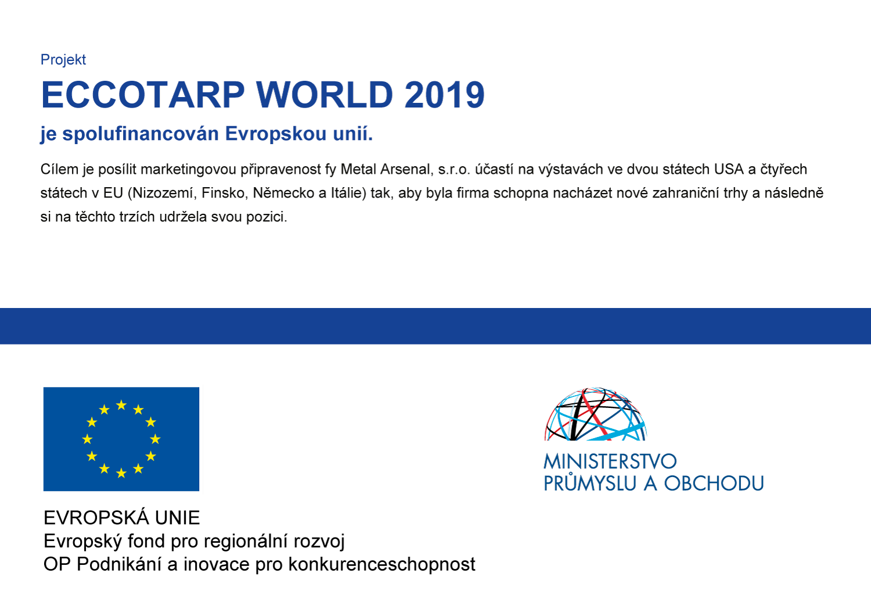 ECCOTARP WORLD 2019 je spolufinancován Evropskou unií